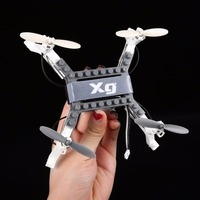 DIY Clamp Free Transform Building Blocks RC Quadcopter Altitude Hold Drone Kit Helicopter Remote Control Toys for Boys Adult