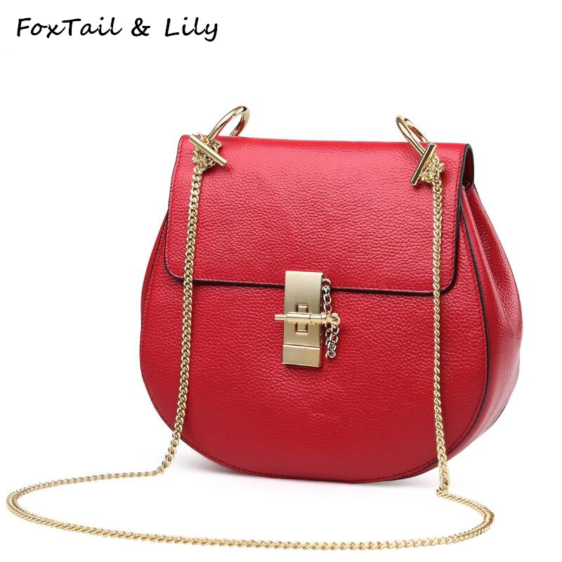 FoxTail & Lily Genuine Leather Women Messenger Bags Famous Designer Small Chain Bag Ladies Fashion Shoulder Crossbody BagsFoxTail & Lily Genuine Leather Women Messenger Bags Famous Designer Small Chain Bag Ladies Fashion Shoulder Crossbody Bags