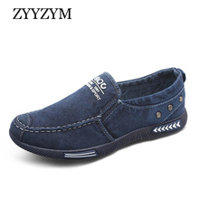 ZYYZYM Men Shoes New 2019 Spring Autumn Comfortable Denim Men Casual S