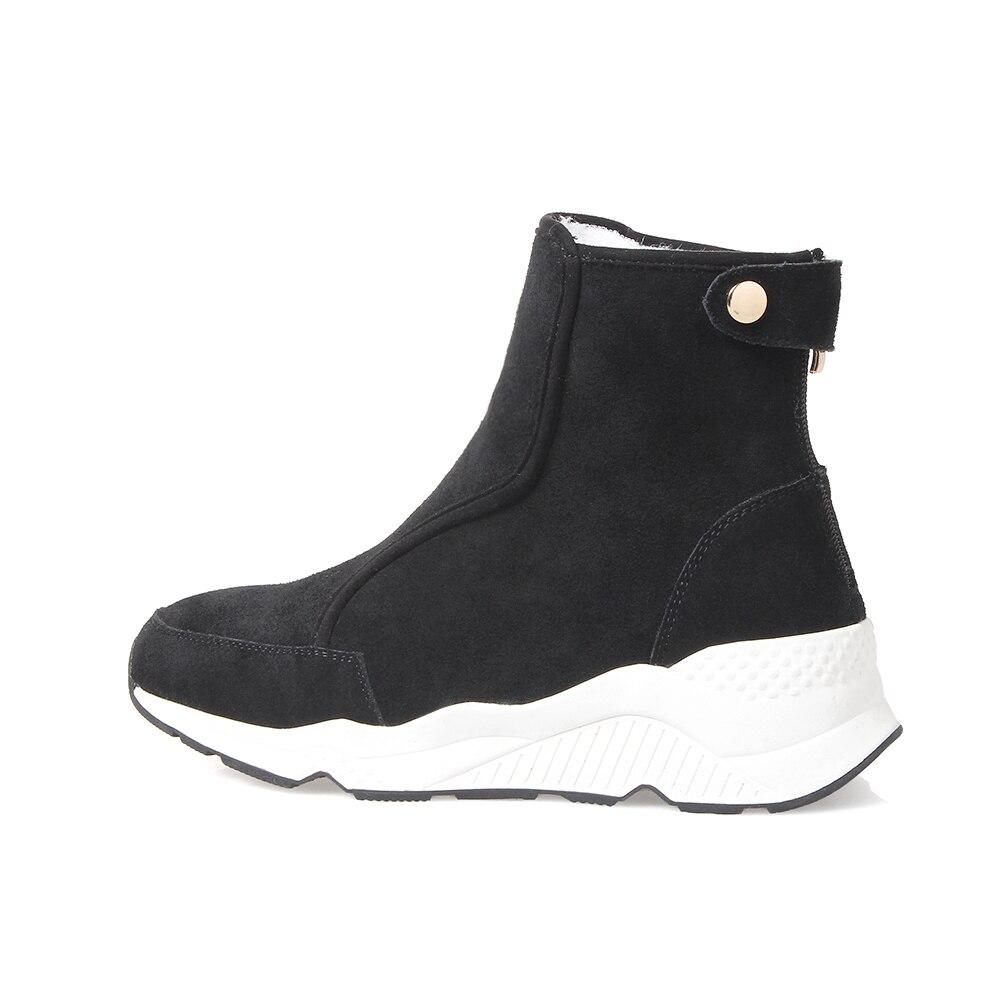 2018 Chaussures Beige Laine 100 Et Vache Chaud Hiver Neige gris New En noir Cuir Qzyerai Bottes Confortable dTnO4dH