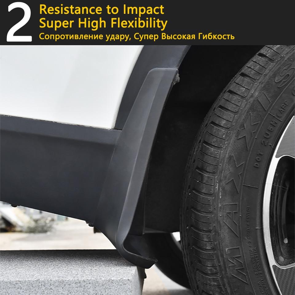 XUKEY Set paraspruzzi per Transporter Caravelle T6 Multivan Kombi 2015 su paraspruzzi paraspruzzi Flap parafanghi anteriori posteriori