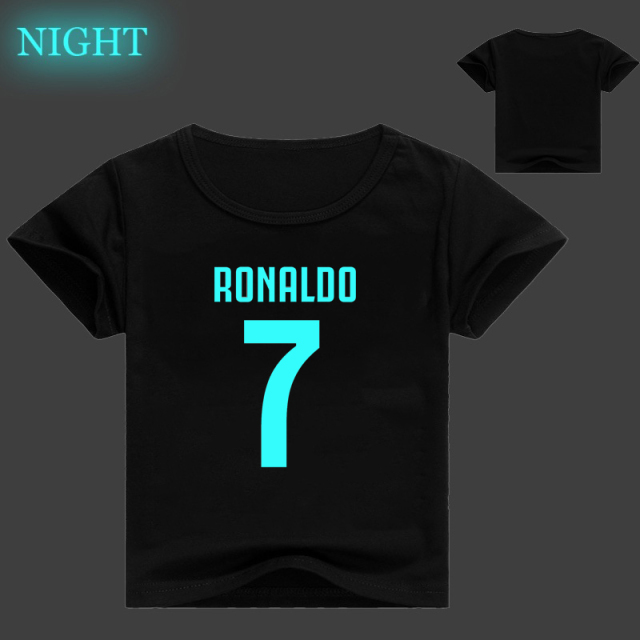 designer fashion ace64 86808 US $9.12 17% OFF|New cute Ronaldo 7 CR7 Luminous Children's Cotton Short  Sleeves boys T shirt Luminous T Shirt Tee Tops for Children-in T-Shirts  from ...