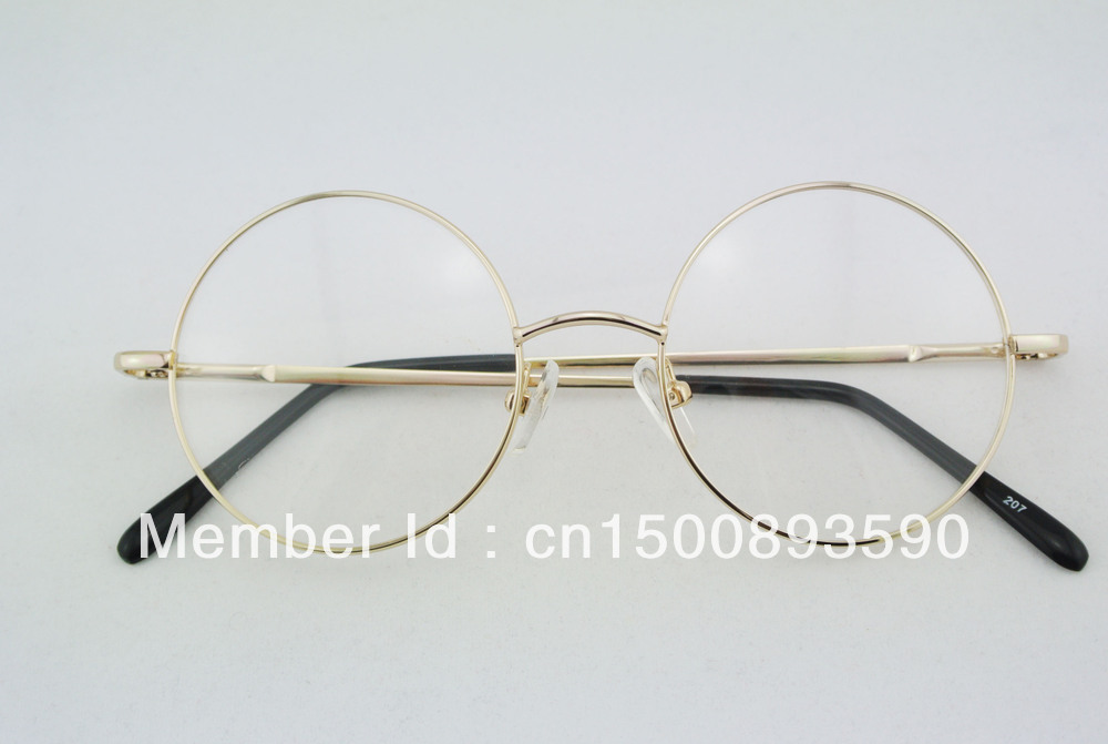 aliexpresscom buy 46mm vintage round eyeglass frames full rim gold eye glasses men women eyeglasses spectacles prescription optical rx 207 from