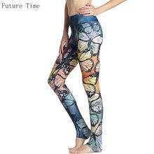 Colorful Butterfly Women Leggings 2017 Spring Girls Slim Push Up Leggings For Female Sporting Legging Casual Breathable legins