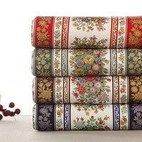 50x120 cm 100% Tessuto di Cotone Europa Stile Vintage Flower Stampe Tessuto FAI DA TE per Tovaglia/Cuscino abbigliamento Cucito Tessuto