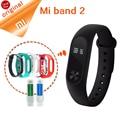 Original xiaomi mi banda 2 banda inteligente pulseira pulseira mi 2 Banda Rastreador De Fitness Monitor de Freqüência Cardíaca Inteligente OLED Touchpad estoque