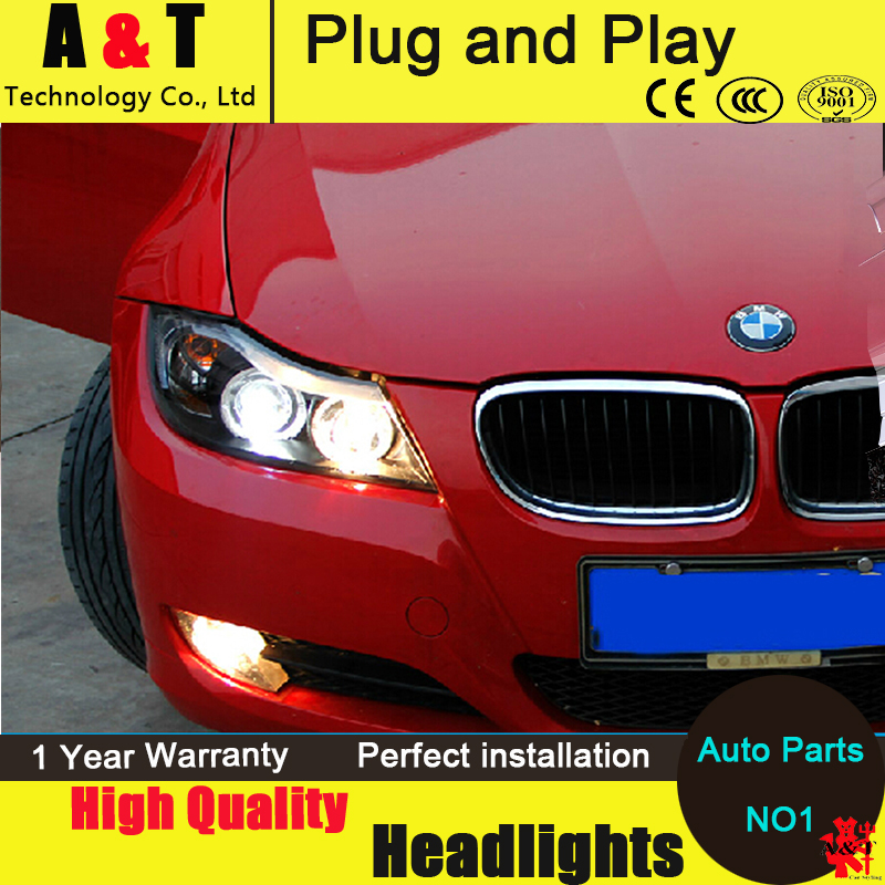 Car Styling LED Head Lamp for BMW E90 Headlight assembly 318 320 325 LED Headlight angel eye headlight with hid kit 2pcs. car styling head lamp for bmw e84 x1 led headlight assembly 2009 2014 e84 led drl h7 with hid kit 2 pcs
