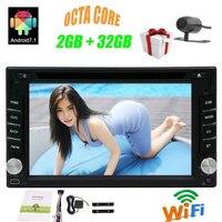 Двухместный 2 DIN в тире Bluetooth Стерео DVD GPS Авторадио Android 7.1 Octa core автомобильных электронных головное устройство GPS поддержка 4 г