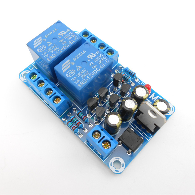 Power amplifier board loudspeaker protection board Kit (parts) with dual relay delay and DC protection hot sale power amp board 68w 68w lm3886 amplifier board with circuit protection