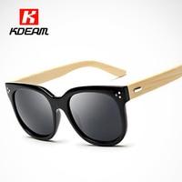 Hot Chic Hand-made Wooden Sunglasses Women Brand Designer Oversized Cathrine Fashion Glasses Wood lunette de soleil femme