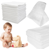 New Reusable Multi Function Unisex Newborn Baby Ecological Gauze Diaper Thicker Eight Layers Diaper Covers Leak