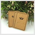 Cheap Jewelry Earring Cards, 200pcs/lot Brown Paper Earring Display Packaging Tags/Cards With Crown Design Free Shipping