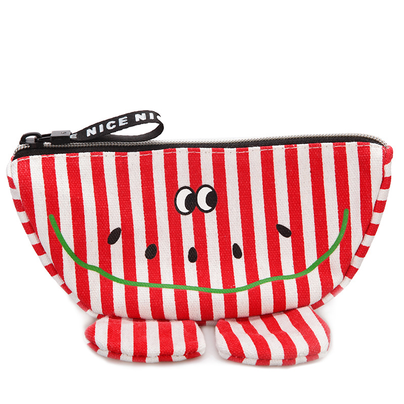 Children Canvas Waist Packs Kid Stripe Fanny Bag Cartoon Big Ear Eye Chest Bag for Boy Girl Baby Money Waist Bag Belt Kawaii Bag tie waist stripe contrast longline dress
