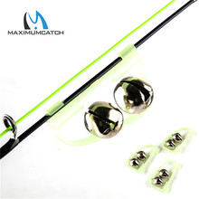 Maximumcatch 10 Pcs/Lot LED Night Fishing Accessory Noctilucent Fishing Bell Float Twin Bell Ring Fishing Tool