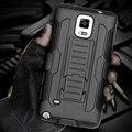 Negro armor case cajas del teléfono para samsung galaxy s6 s7 edge plus S5 S4 Nota 5 4 3 Coque Dual Layer Híbrido Pata de Cabra Soporte Shell
