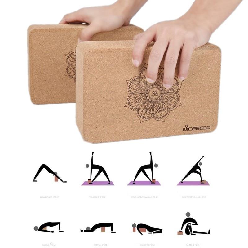 Natural Cork High Density Yoga Brick Eco Fridenly Non slip Dance Pilates Leg Pressing Exercise Yoga Block Yoga Equipment