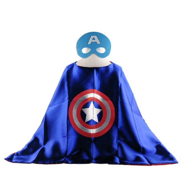 50sets 1cape 1mask dhl kids cosplay superhero capes chrismas