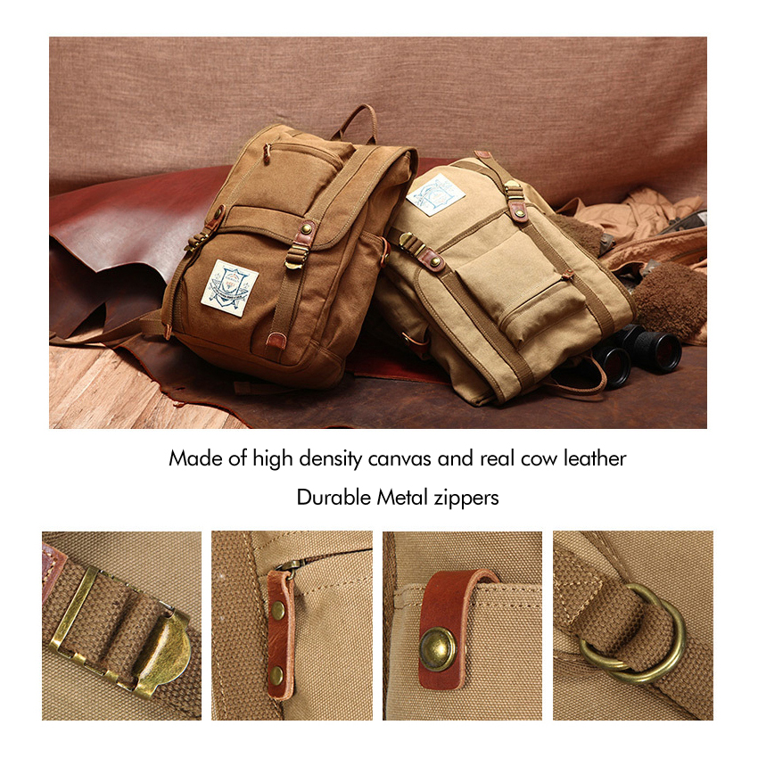 15 6 quot Canvas Men Backpack Large Capacity Backpack School Bags for Teenagers Laptop Backpack Rucksack Male Mochila in Laptop Bags amp Cases from Computer amp Office