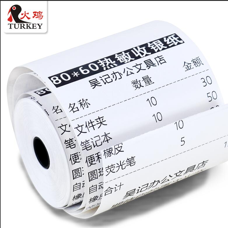 50 Rolls Thermal Cash Paper 80 X 60mm 80mm Pos Printer Register Receipt Paper