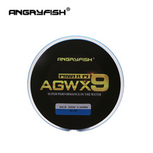 ANGRYFISH 9 Strands 300m Super PE Braided Fishing Line 11 Colors ძლიერი Line
