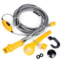 Newest Outdoor New 12V Car Washer Camping Shower Portable Car Shower Washer Set Electric Pump Outdoor