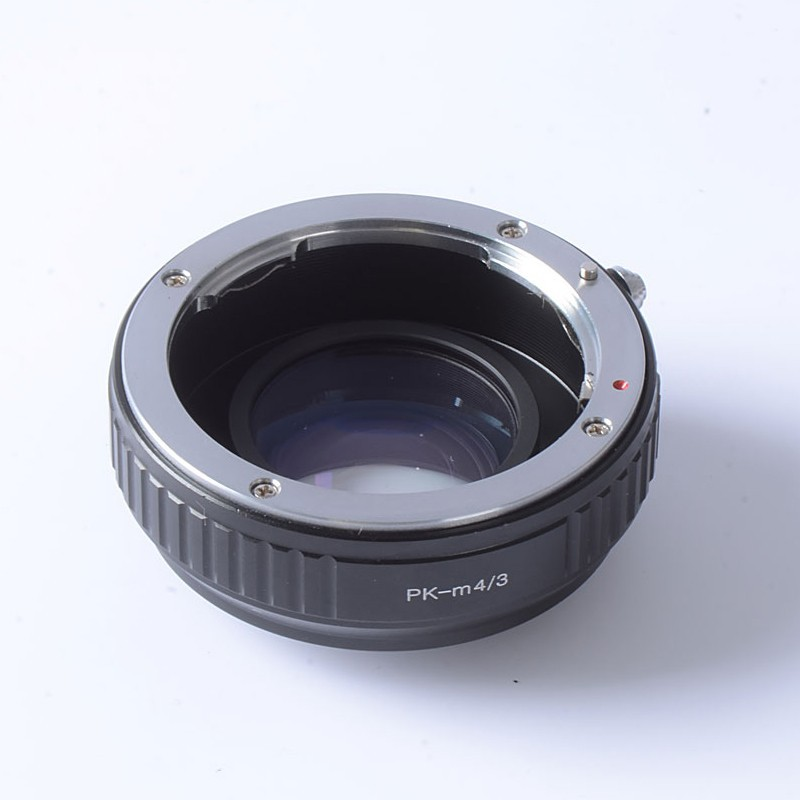 Focal Reducer Speed Booster Turbo adapter ring for Pentax PK Lens to m4/3 mount camera GF6 E-PL6 GX1 GX7 EM5 EM1 E-PL5 BMPCC цены