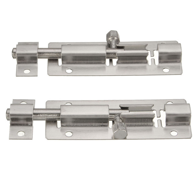 75mm 2Pcs Newest Stainless Steel Door Wardrobe Closet Drawer Bolts Screw  Gate Lock Latches 35/
