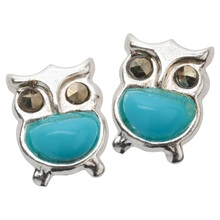 YACQ 925 Sterling Silver Owl Stud Earrings Birthday Party Christmas Holiday Jewelry Gifts Women Girls Her Dropshipping CE152A