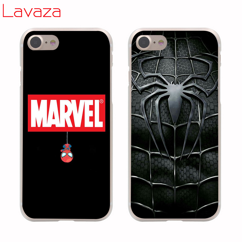 Lavaza Spider Man Far From Home Hard Phone Case for Apple iPhone 6 6s 7 8 Plus X 5 5S SE for iPhone XS Max XR Cover in Half wrapped Cases from Cellphones Telecommunications