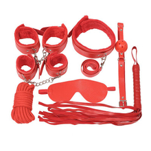 Free shipping Sex Toys for Couples Exotic Accessories Nylon BDSM Sex Bondage Set Sexy Lingerie Handcuffs Whip Rope