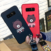For Samsung Galaxy note 8 N9500 N950F case cover Fashion cartoon bear soft Case For note8 SM-N9500 N950F phone case back cover