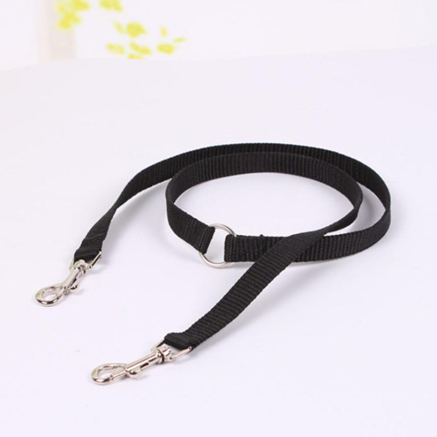 2018 dog collar New Qualified Pet Double Dog Twin Strong Multicolor Lead Two Pet Dogs Walking Leash