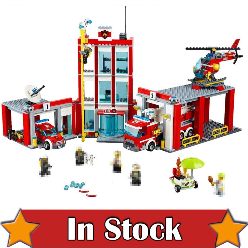 In Stock Lepin 02052 1029Pcs City The Fire Station Set legoingly 60110 Building Blocks Bricks Educational DIY Toys for kids crusade volume 4 the fire beaks