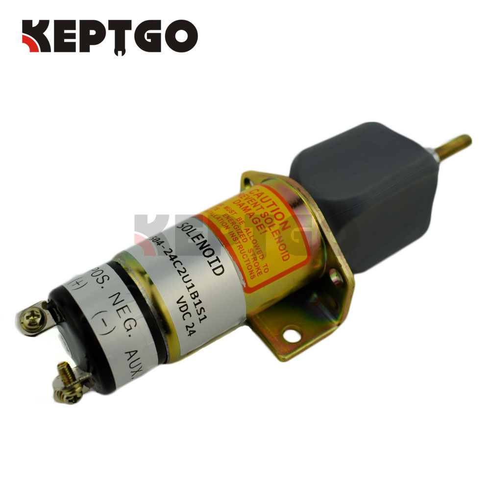 1504-24C2U1B1S1, 24V, 1500-2057 Fuel Stop Solenoid For Kubota DF-750 (3 terminals) 1504-241504-24C2U1B1S1, 24V, 1500-2057 Fuel Stop Solenoid For Kubota DF-750 (3 terminals) 1504-24