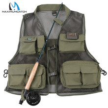 Maximumcatch Super Light Breathable Fly Fishing Vest Multi-Pockets Outdoor Fishing Jacket Army Green Color Fishing Vest