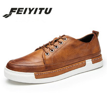feiyitu Plus size 46  Spring Autumn New Retro Style Mens Casual Shoes Fashion Comfortable Men Loafer