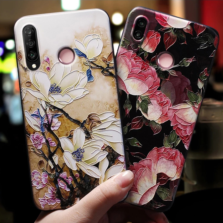 For Fundas Huawei Honor 10i Case Cover For Honor 10 Lite Case For Honor10i Honor 10lite Case 3D Red Rose Flower Blue Black Case