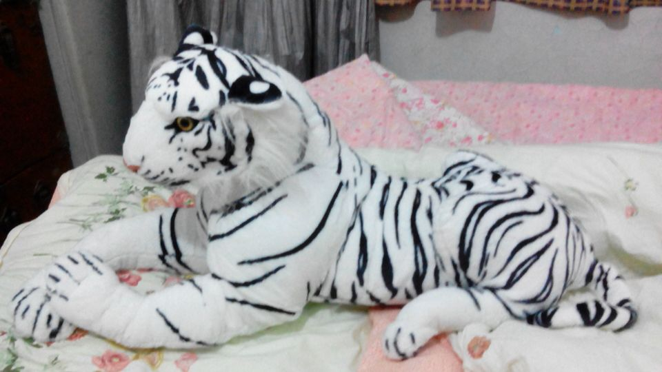simulation animal large prone white tiger about 87cm plush toy soft toy,Christmas gift h260 stuffed animal 145cm plush tiger toy about 57 inch simulation tiger doll great gift w014