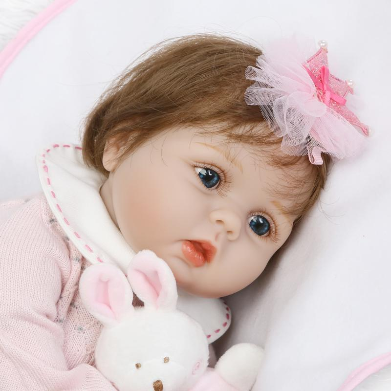 bebe silicone reborn baby soft body girl open eyes dolls 55 cm babies real doll toy