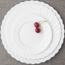 6 /set plastic lace white plates round dishe Western dishes parties fruit dishes pastry dishes & Buy disposable plastic dishes and get free shipping on AliExpress.com