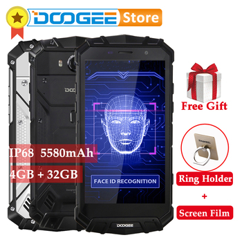 DOOGEE S60 Lite 5580mAh 4GB 32GB Android 7.0 IP68 Smartphone MTK6750T Octa Core 16MP wireless charge Face ID OTG 4G Mobile Phone 1