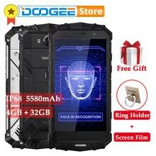 DOOGEE S60 Lite 5580 MAh 4GB 32GB Android 7.0 IP68 Điện Thoại Thông Minh MTK6750T Octa Core 16MP Không Dây Sạc Mặt ID OTG 4G Di Động