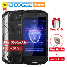 DOOGEE S60 Lite 5580mAh 4GB 32GB Android 7.0 IP68 Smartphone MTK6750T Octa Core 16MP wireless charge Face ID OTG 4G Mobile Phone