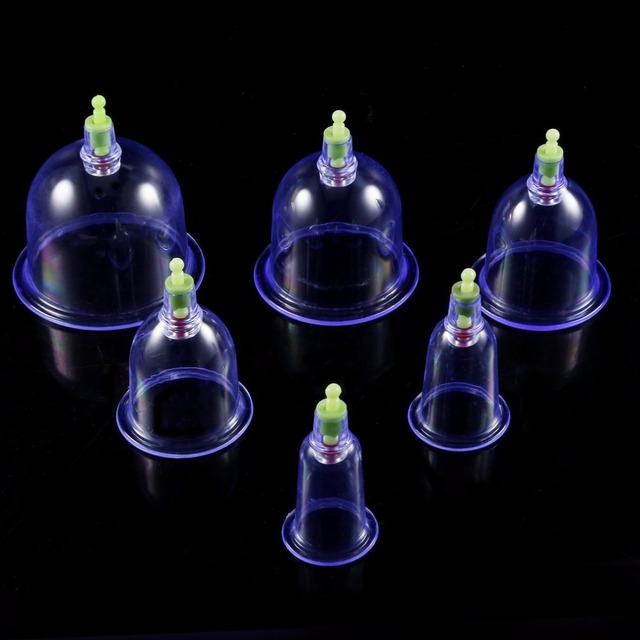 Professional Suction Cup Therapy Effective Healthy 12 Cups Medical Vacuum Cupping Set Physical Therapy Device Body Massager Set