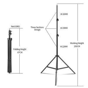 Image 5 - 사진 50x70CM 4 개의 램프 Softbox 키트 8pcs 전구 소프트 박스 액세서리 삼각대 스탠드 전문 사진 스튜디오 비디오