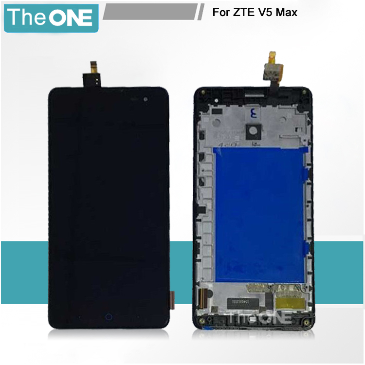 Подробнее о Lcd Screen Display+Touch Screen Digitizer For 5.5'' ZTE V5 MAX N958St Free Shipping With Frame Full Assembly Black Color new for zte b880 lcd display with touch screen digitizer assembly black free shipping