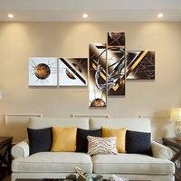 Hecho a mano 5 unidades contemporánea abstracta decorativa pintura al óleo sobre lienzo arte de la pared amante del baile para la sala dormitorio