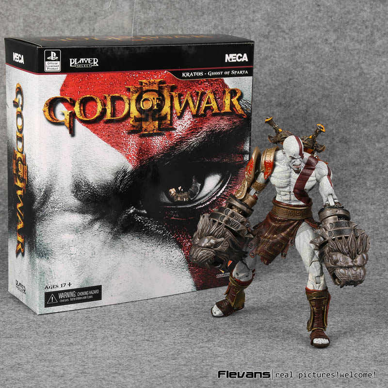 NECA God Of War 3 Ghost van Sparta Kratos PVC Action Figure Collectible Model Toy 22 cm