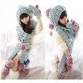 Женщины зима шапочки hat Трикотажные вязания шапочки + шарф + перчатки Twist Леди Тонкий Одежда Аксессуары Рождественский Подарок