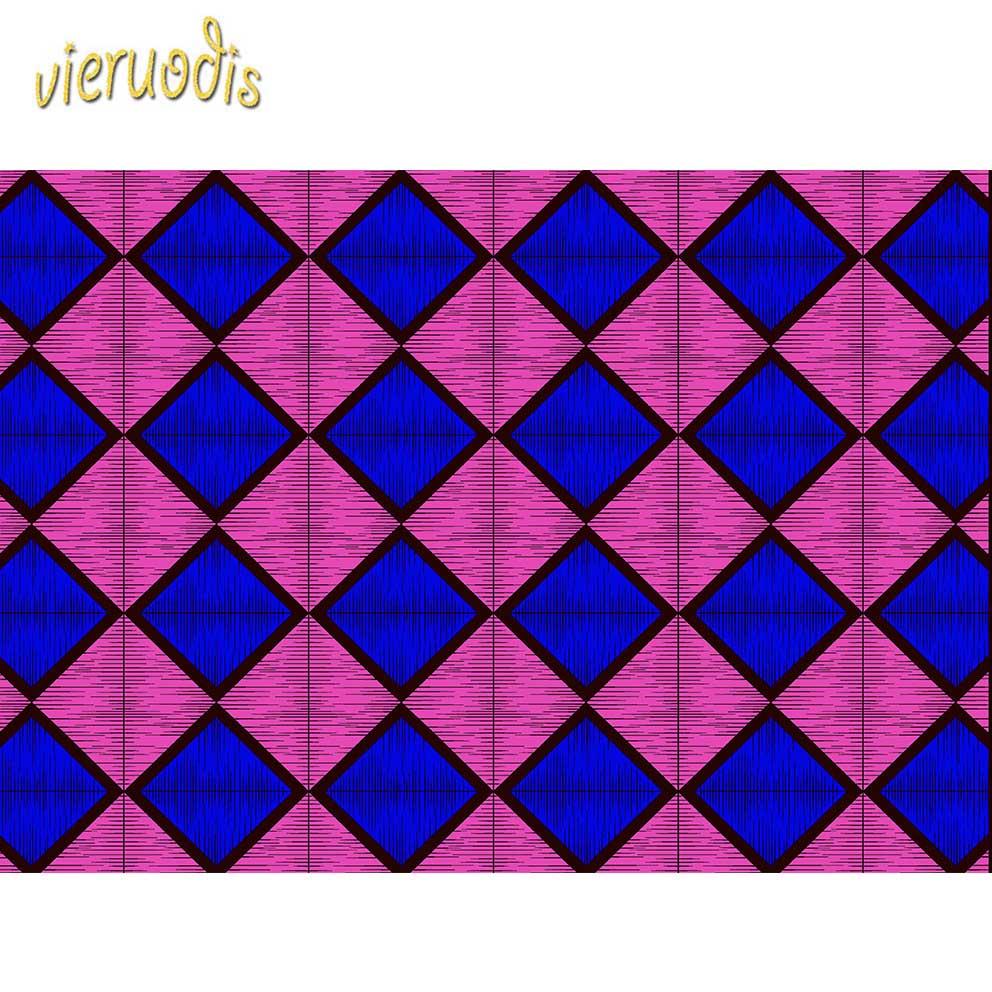 6 Yards africain cire imprime tissu néerlandais 100% coton tissus matériel Dashiki Batik véritable Floral pour robe A000238 - 4
